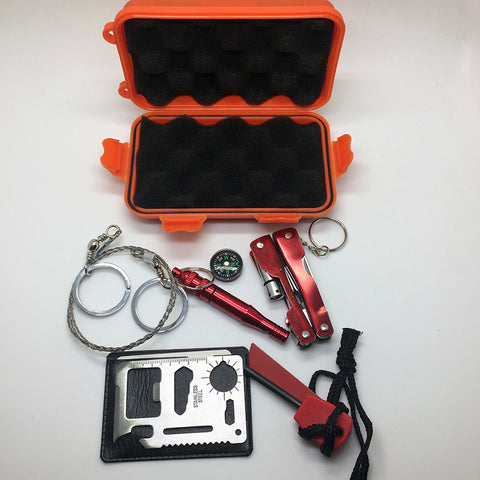 Outdoor Emergency SOS Kit For Camping, Travel, & Survival Gear