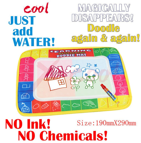 Water Doodle Mat & Pen -  For Toddlers/Children  - size 29 x 19 cm