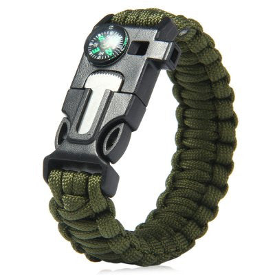 FREE - 5 in 1 Outdoor Survival Paracord Bracelet - Many Colors Available!