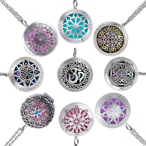 1pc  Vintage Necklace Aromatherapy Locket for  Essential Oils Diffuser
