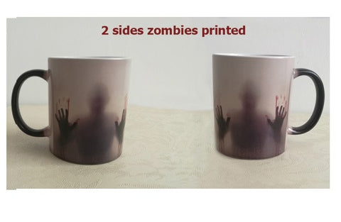 Awesome Morphing Zombie Mug!  Zombies will Appear with Heat !!