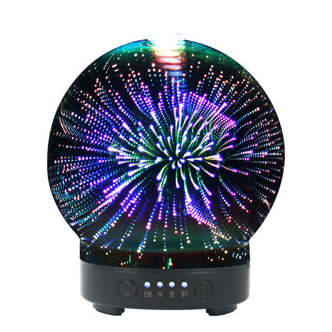 3D Colorful Aromatic Essential Oil Ultrasonic Diffuser 100ml  with 8 Color LED Mood Lights