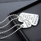 "There is this girl she stole my heart she calls me... ""DADDY"", ""Mommy"",""GRANDPA"" or ""GRANDMA"" Necklaces Keychain Set"