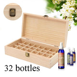 Wooden Essential Oil Box with  Metal Lock - 3Styles of Organizer Storage Box