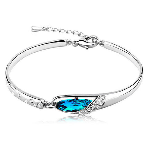 Crystal Elegance Bangle - Various Colors Available