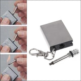 Set of 2 -Stainless Steel Emergency Fire Starter Flint Match - Two Styles to Choose from!