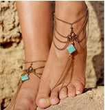 Hot Summer Bohemian Turquoise Ankle Bracelet - Choose from Several Styles