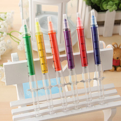 FREE - Novelty Nurse Needle/Syringe Highlighter Markers 6 pack