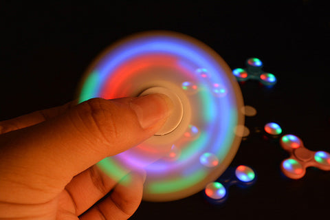 3 Styles- Fideget Spinner (Glow in the Dark, LED,  or Non Glow Spinner) For Autism, ADHD Relief, Focus, Anxiety, Stress, or Just for Fun