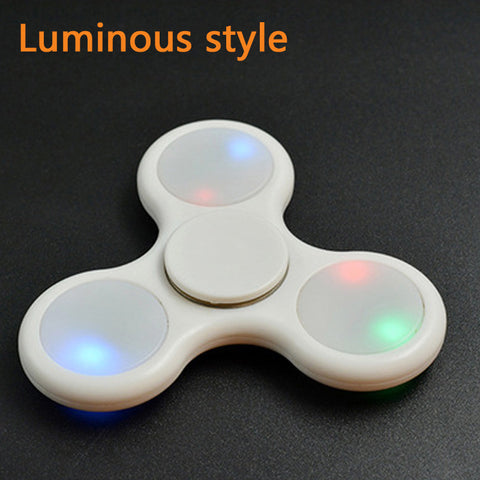 3 Styles Fidget Spinner Glow In The Dark LED Or Non