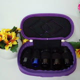 5 Bottles Essential Oil Portable Holder Case For 5/10/15ml Oils -Travel Carrying Storage
