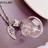 Free Trendy Dandelion Seed Glass Bottle Pendant Necklace - Several Styles to choose from
