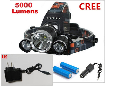 65% OFF Savings & FREE Shipping BONUS - Rechargable Ultra Bright LED Headlamp with Chargers!