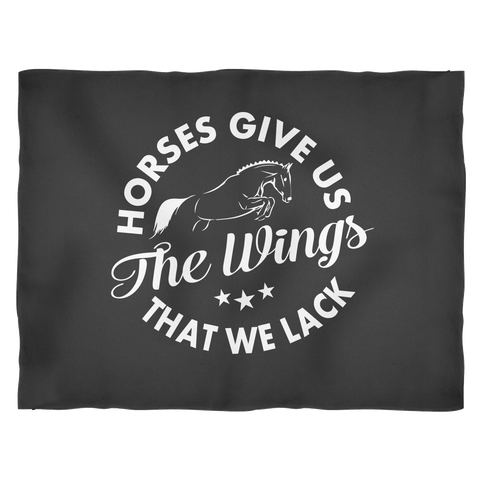 Horses Give Us Wings Fleece Blankets