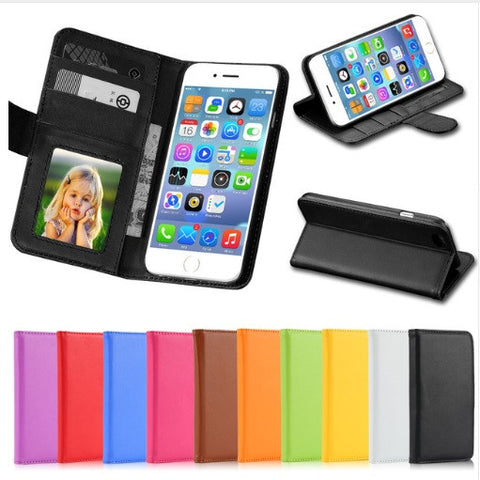 FREE - Wallet Phone Case Flip Cover for Iphones - (Iphone 4,4s,5, 5s, 5c, 6,6s,6plus)