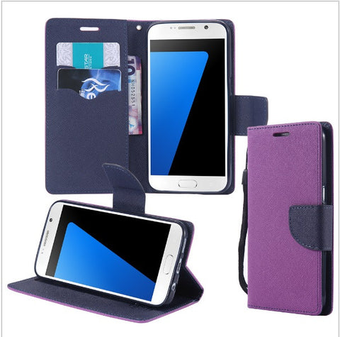 Handy Wallet Phone Case Flip Cover for Samsung - (Samsung S4,S5,S6,S7, S7 Edge)