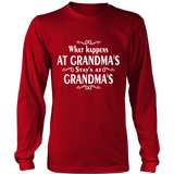 What Happen's at Grandma's  (Shirt & Hoodies for Kids & Grandma) -Click to View