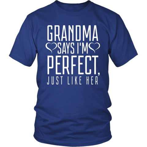 Grandma Say's Im Perfect, Just Like Her ( Shirt & Hoodies)
