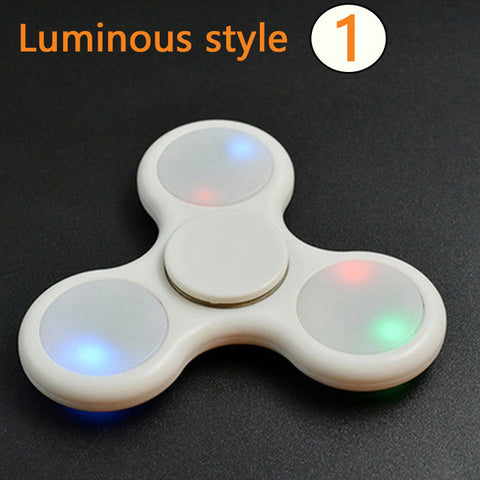 3 Styles- Fidget Spinner (Glow in the Dark, LED,  or Non Glow Spinner) For Autism, ADHD Relief, Focus, Anxiety, Stress, or Just for Fun
