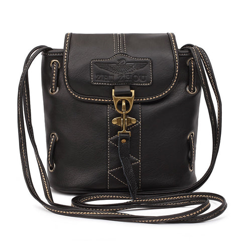 High quality women vintage handbags pu leather bags ladies  vintage crossbody