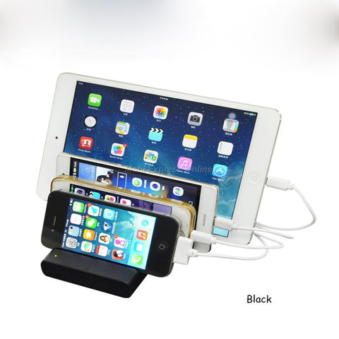 Mobile Phone/ Tablet Charging Docking Station   4 USB Charging Locations