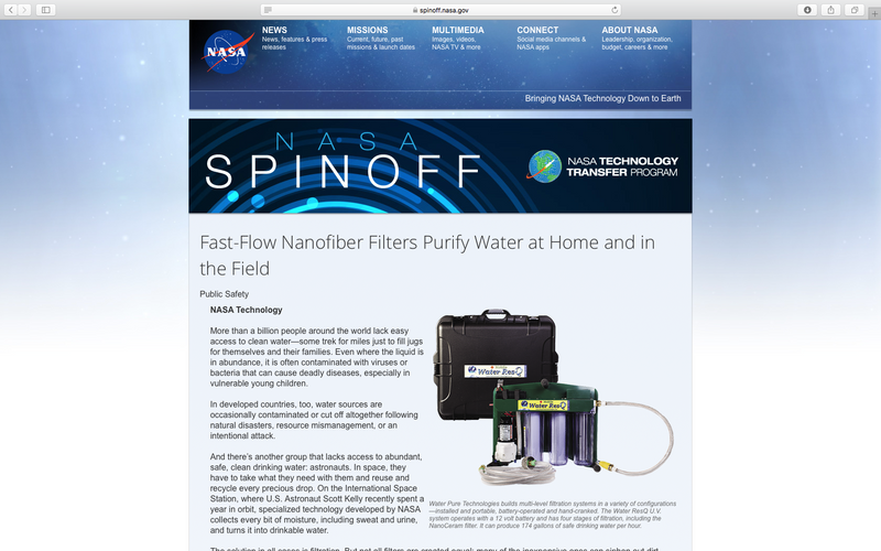 NASA Spinoff Magazine 2017 - Fast Flow Nano Filtration