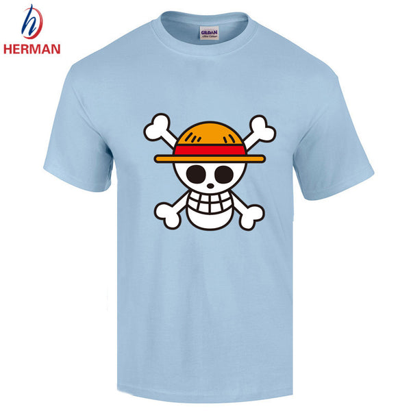 Japanese Anime Clothing Back Color Luffy Cotton T-shirt