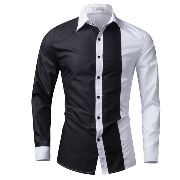 Casual Slim Fit spell Color Chemise Shirts