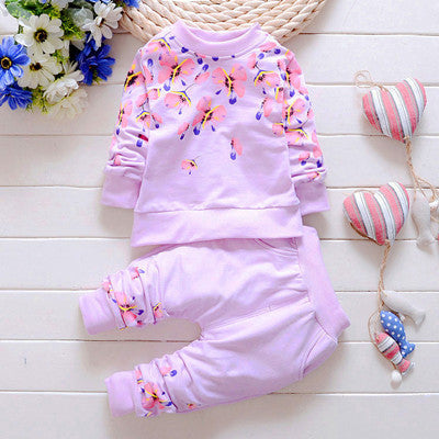 Spring Autumn Floral Pattern Girls clothing