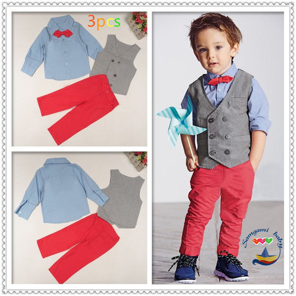 Handsome gentleman Boy's 4pcs suit