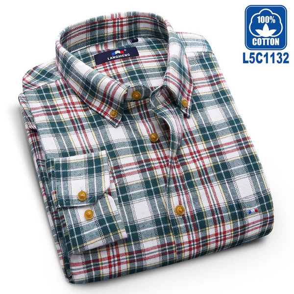 Langmeng 100% Cotton Autumn Dress Shirts