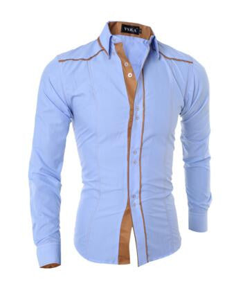 Long Sleeve Slim Fit Solid Line Shirts