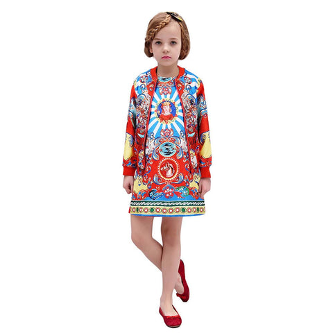 W.L.MOSNOON Girls Clothing Set
