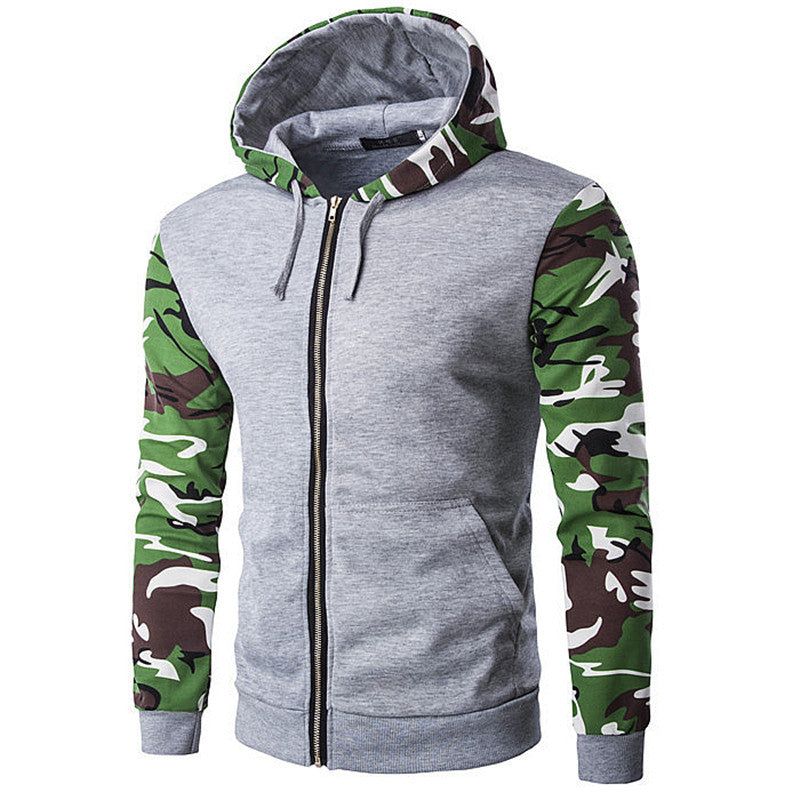 Zipper Running Hooded Gym Clothes