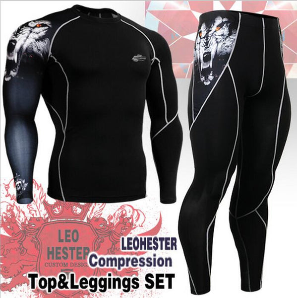 Compression Shirts + Pants Trainning suit