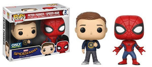 Spider-Man Homecoming - Spider-Man/Peter Parker (2 Pack) Pop! Vinyl, Funko - Collekt.co.uk