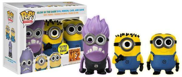 Despicable Me 2 - Evil Minion, Carl and Dave - GITD - 3 Pack Pop! Vinyl, Funko - Collekt.co.uk