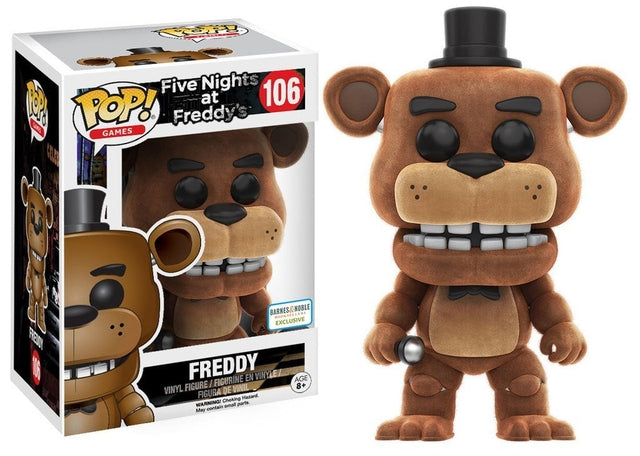Five Nights at Freddys - Freddy - Flocked (106) Pop! Vinyl, Funko - Collekt.co.uk