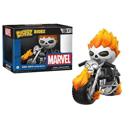 Marvel - Ghost Rider with Motorcycle (27) Dorbz, Funko - Collekt.co.uk
