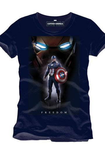 Captain America Civil War T-Shirt Freedom - Collekt.co.uk - Funko Pop Vinyl - UK Stock!!