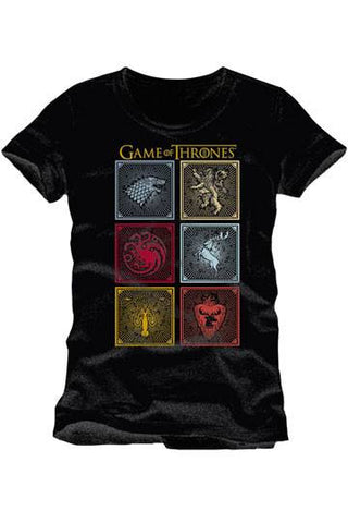 Game of Thrones T-Shirt Badges Of The King - Collekt.co.uk - Funko Pop Vinyl - UK Stock!!