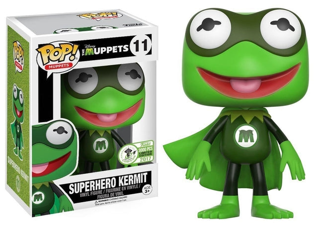 Funko Pop Movies - The Muppets - Superhero Kermit (11) - ECCC Pop! Vinyl, Funko - Collekt.co.uk