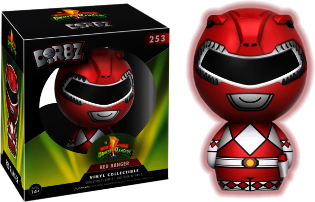 Mighty Morphin Power Rangers - Red Ranger - GITD (253)