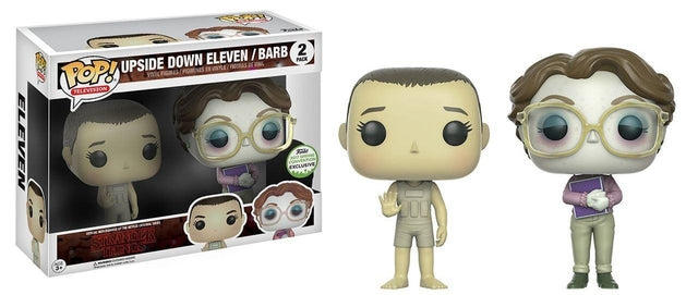 Stranger Things - Upside Down Eleven/Barb - 2 Pack - ECCC Pop! Vinyl, Funko - Collekt.co.uk