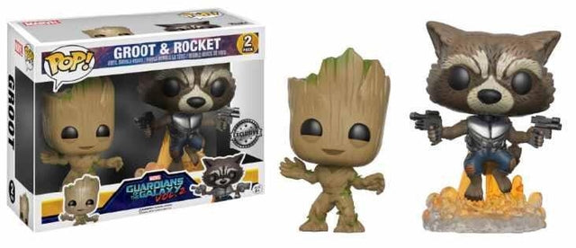 GOTG2 - Young Groot and Rocket (2 Pack) Pop! Vinyl, Funko - Collekt.co.uk