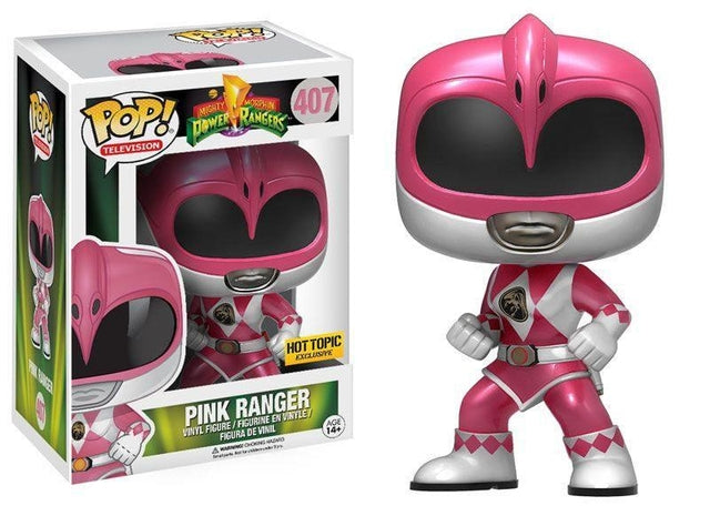Mighty Morphin' Power Rangers - Pink Ranger - Metallic (407) Pop! Vinyl, Funko - Collekt.co.uk
