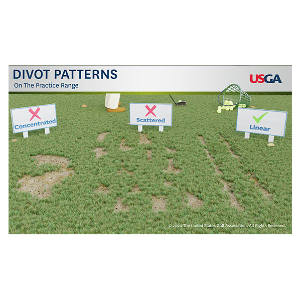 Divot Patterns on the Practice Range Educational Poster