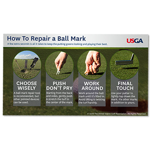 How To Repair a Ball Mark: Course Care Educational Poster