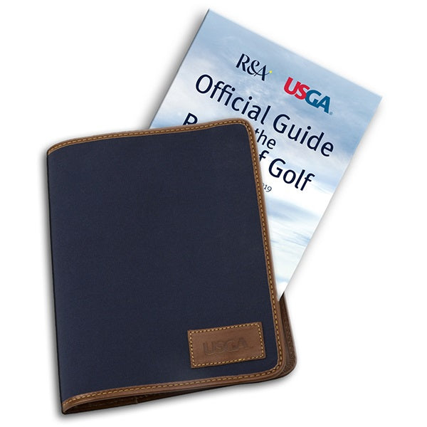 Navy Canvas Cover for the Official Guide to the Rules of Golf