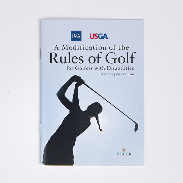 Modification of the Rules of Golf For Golfers With Disabilities
